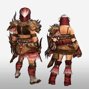 FrontierGen-Gogo Armor (Gunner) (Back) Render