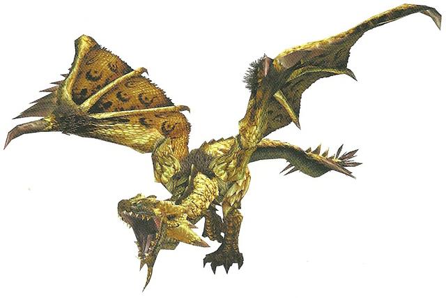 File:FrontierGen-HC Gold Rathian Render 001.png