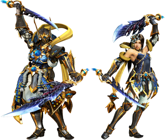 File:MHGen-Rising Star and Dreaming Armor (Both) Render 001.png