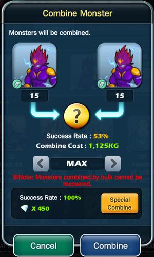 Max Mass Combine