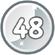 Level 48 icon