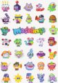 100% Moshlings free stickers