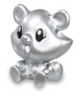 Blue Jeepers figure silver