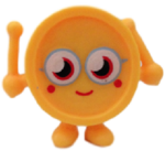 Wallop figure electric yellow