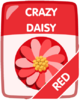Red Crazy Daisy