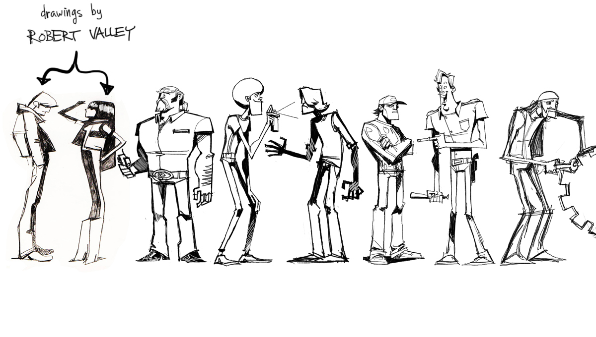 Character Design Lineup : Image character lineup by robert valley g motorcity