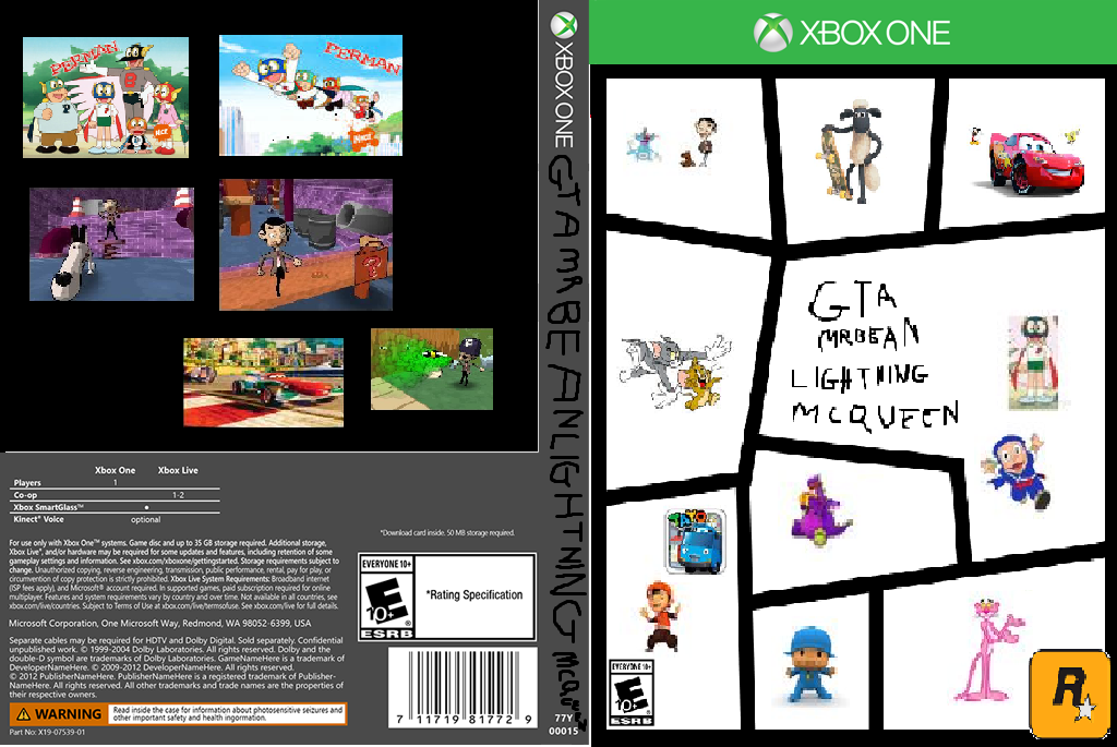 xbox game cover template