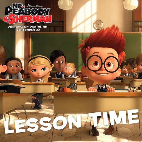 File:Mr. Peabody and Sherman Sherman and Penny Peterson Lesson Time.jpg