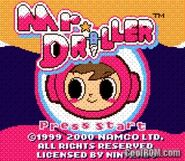 Mr. Driller GBC Title Screen