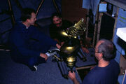 MST3k- Bill Corbett behind-the-scenes puppeting Crow