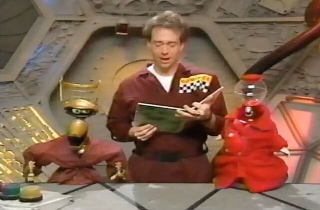 File:MST3k- reading in opening host segment for Godzilla Vs. the Sea Monster.jpg