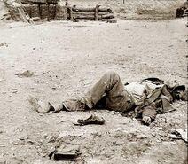 Flashback of Wayne Wilson's corpse