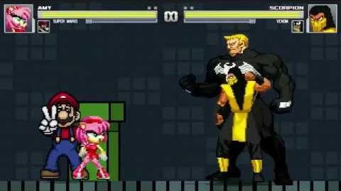 AN Mugen Request 162 Amy Rose & Super Mario VS Scorpion & Venom