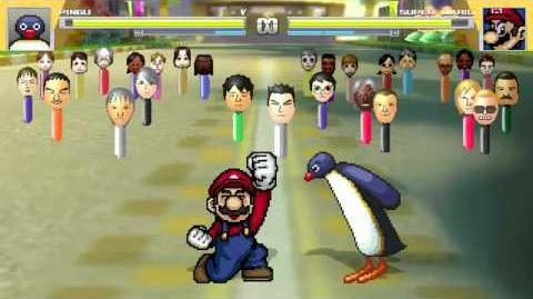 AN Mugen Request 251 Pingu VS Super Mario