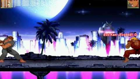 MUGEN HR - Thunder And Fire - Evil Ken Vs Evil Ryu HQ