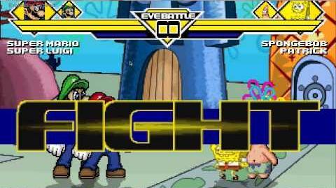 Mario and Luigi VS Spongebob and Patrick MUGEN