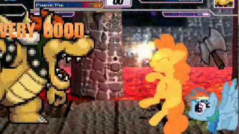 At Mugen Battle Raibow Dash & Pinkie Pie vs Bowser
