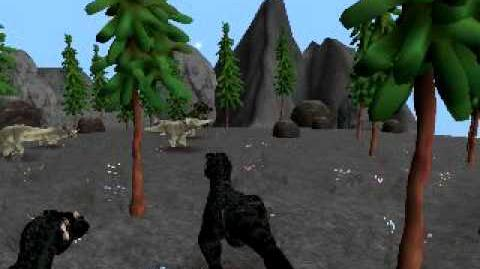 Carnagers hunting ''Neoceratops''