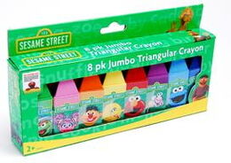Toy island triangular crayons 8 pack