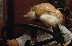 Pops driving GMC