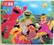 Milton bradley sesame puzzle 1995 kite