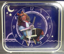 Picco 1980 miss piggy clock