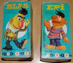 Barval spain wind-up ernie bert toys spin around epi blas 1