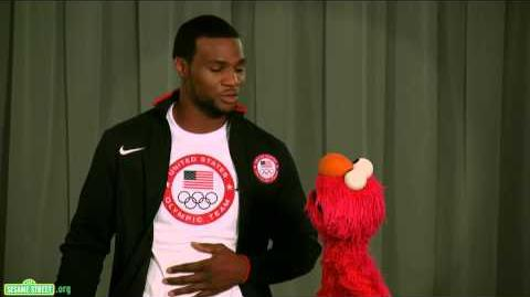 Sesame Street Elmo and Team USA Olympic Boxer Marcus Browne Discuss Healthy Habits