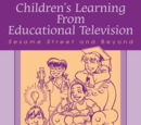 Children's Learning from Educational Television: Sesame Street and Beyond