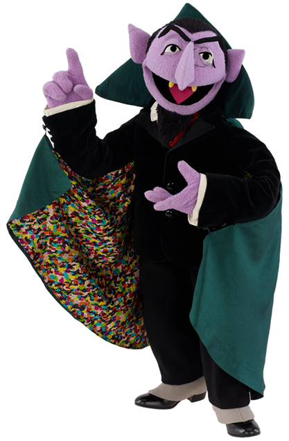 Watch The Count count pi for over five hours straight
