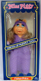 Fisher-price 1981 miss piggy dress up muppet doll 1