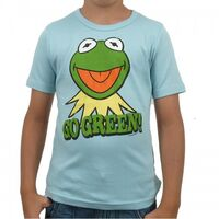 Logoshirt-Kermit-GoGreen-Kids-Shirt-lightblue