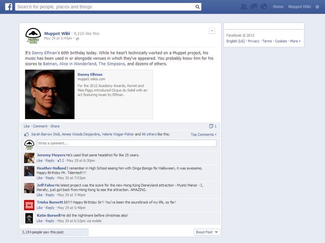 Danny Elfman Facebook