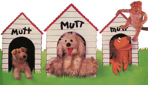 3 mutts and a cat in Muppet Magazine issue 8