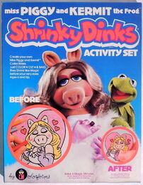 Shrinky dinks kermit and piggy