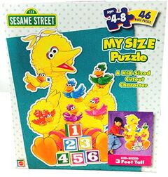 Mattel my size big bird puzzle