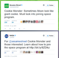 Cookie Monster NASA Twitter Jan 21 2010