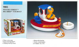 Illco 1992 bath toys big bird tub boat
