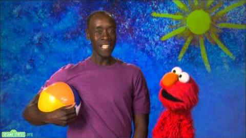 Sesame Street Don Cheadle and Elmo -- Inflate