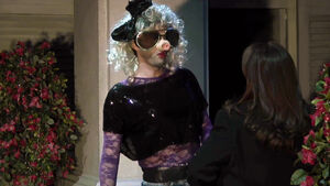 Much Ado David Tennant dressed as Miss Piggy