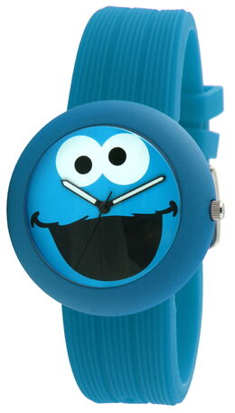 Viva time rubber strap watch cookie monster