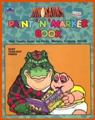 Dinosaurs paint n marker book