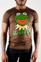 Logoshirt-Kermit-GoGreen-SlimFitT-Shirt-brown