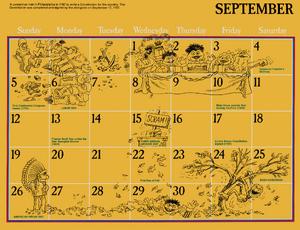 1976 sesame calendar 09 september 2