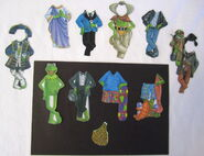 Schylling magicloth magnetic paper doll kermit 2