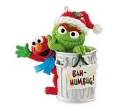 CarltonCardsHeirloom-2013-SesameStreet-Elmo&TheGrouch-ChristmasOrnament