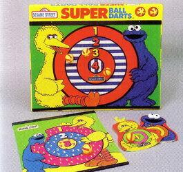 Synergistics 1986 velcro ball dart set magic catch mitts