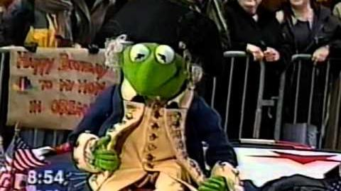 Kermit on Today as Washington for State Quarters