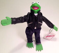 Presents 1991 kermit leather jacket muppet high plush 1