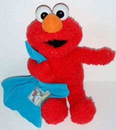 Elmo in grouchland blanket plush